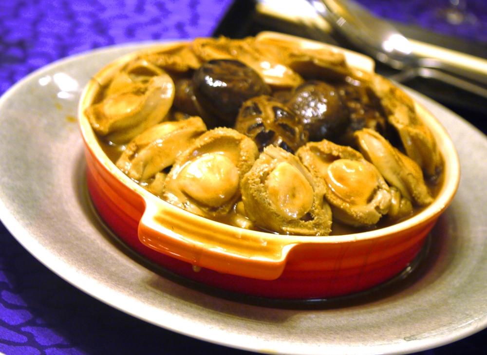 Abalone and mushrooms