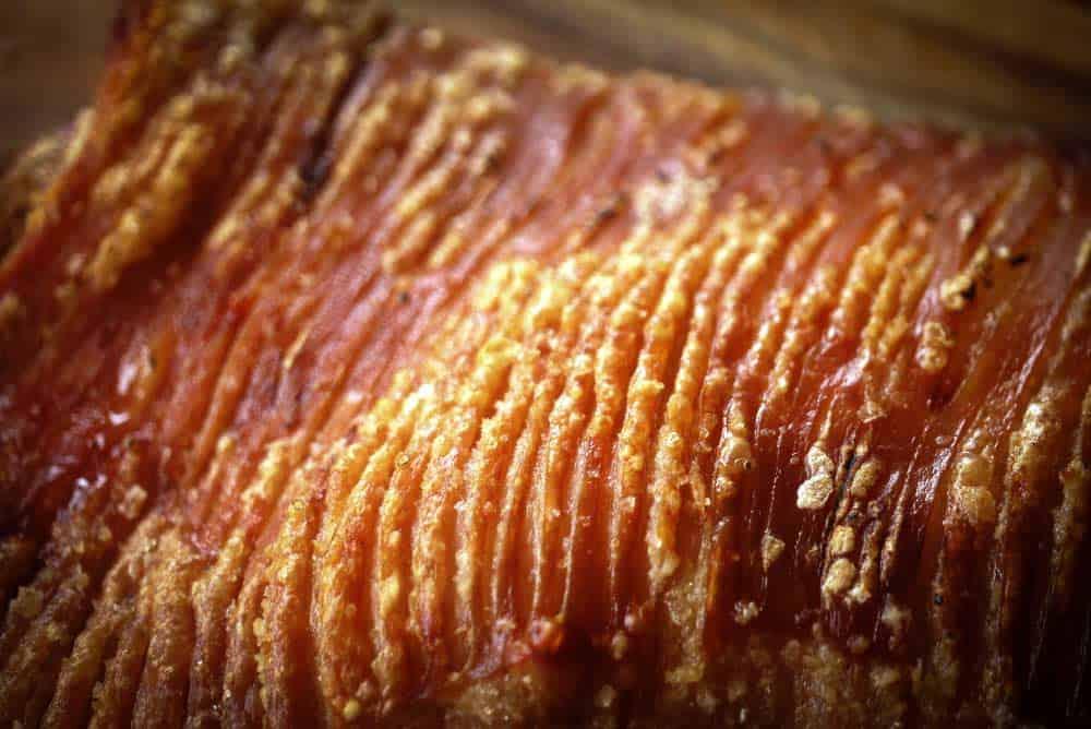 Christmas Roast - pork crackling