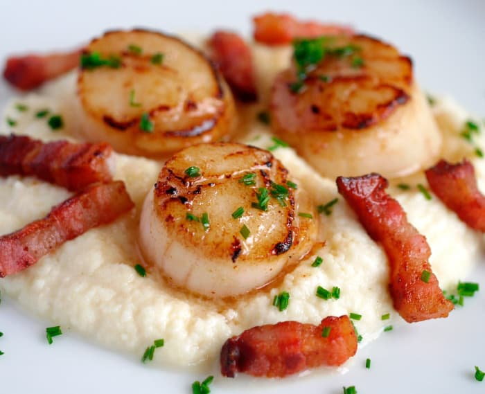 Scallops with Celeriac Puree