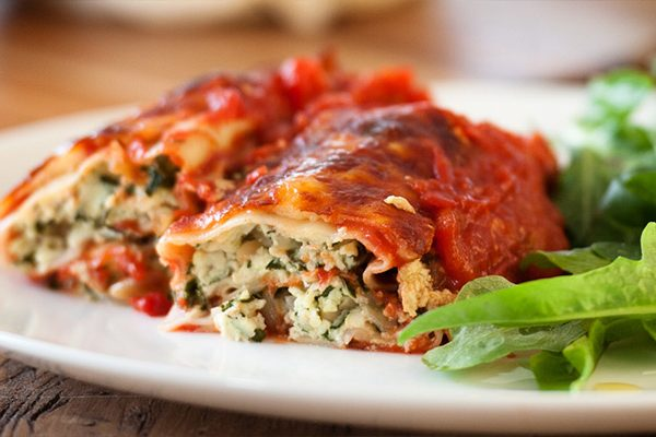 Ricotta and Spinach Canneloni
