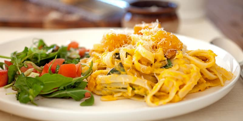 Julie Goodwin | Pumpkin and Pine Nut Fettucine