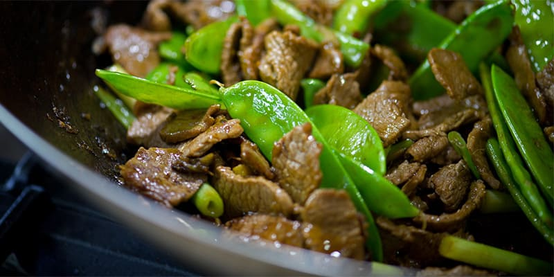 Lamb and Snow Pea Stir Fry