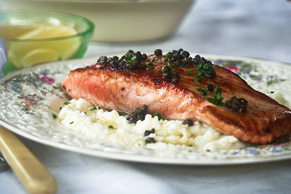Salmon Fillet with Lemon Caper Butter