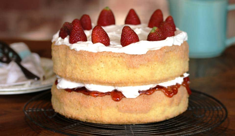 Jam And Cream Sponge Cake Recipe