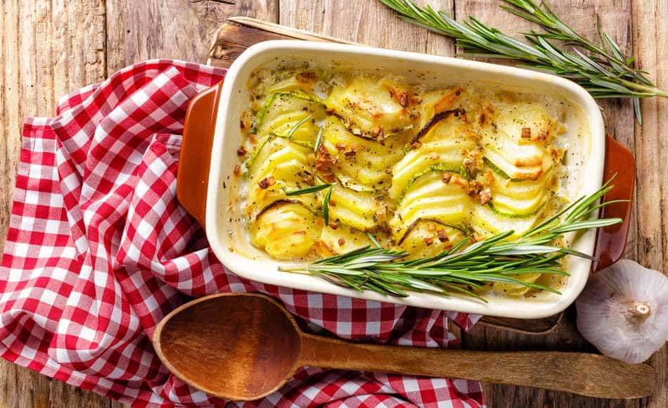 Cheesy Garlic Potato Bake | a Julie Goodwin recipe