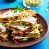 Corn and capsicum quesadillas