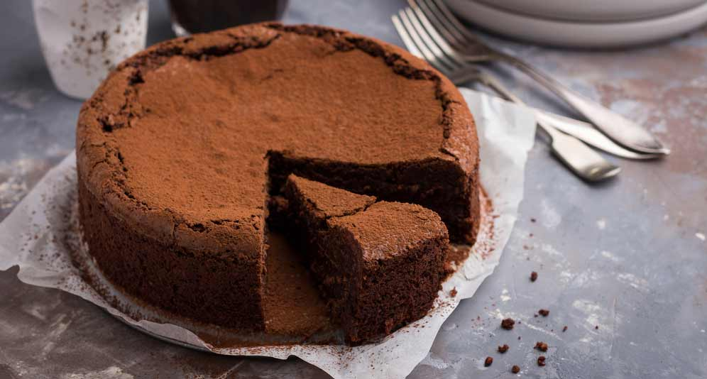 Flourless Dark Chocolate Espresso Cake